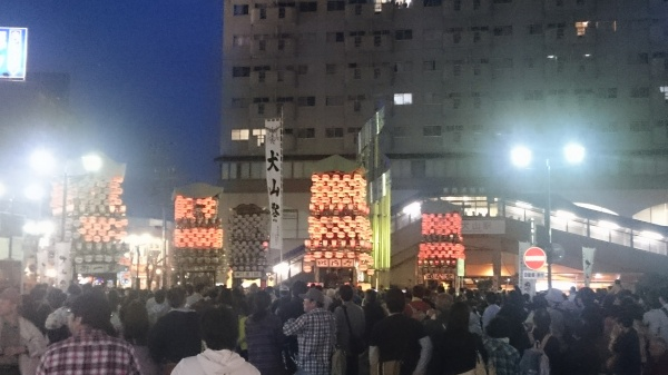 犬山祭 夜車山 駅前